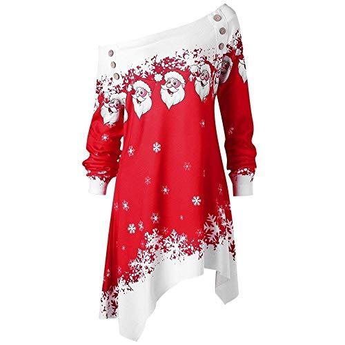 Femme Nouveau Renne Noë Print Noël Joyeux Longue Manches Sweat Hors Épaule Nouveauté Xmas Costume Noël Chandail Pas Cher