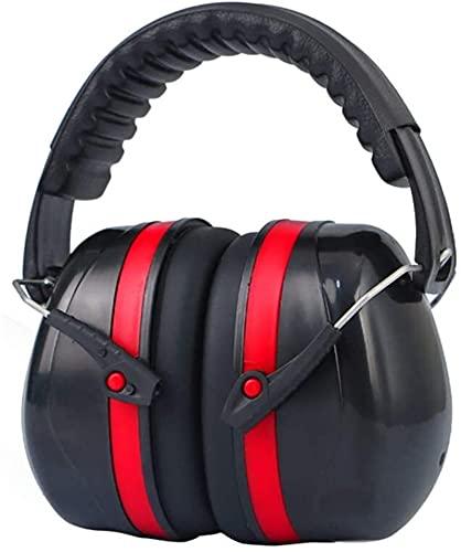TXXM Dźwiękoszczelne nauszniki uczenia słuchawek Anti-hałas Sleep Słuchawki (Color : Red)
