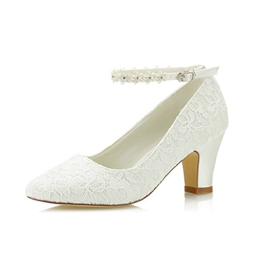 JIAJIA 62311A De Las Mujeres Zapatos de Novia Dedo del pie Cerrado...