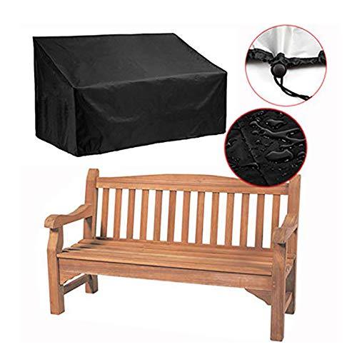 Banc extérieur housse de protection contre la poussière pour meubles de protection contre la pluie et le tissu respirant élimine les moisissures UV 2-4 sièges., 190x66x89cm
