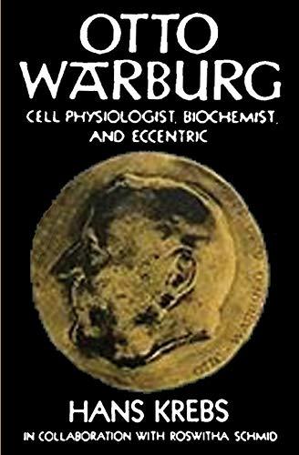 Otto Warburg Cell Physiologist Biochemist and Eccentric