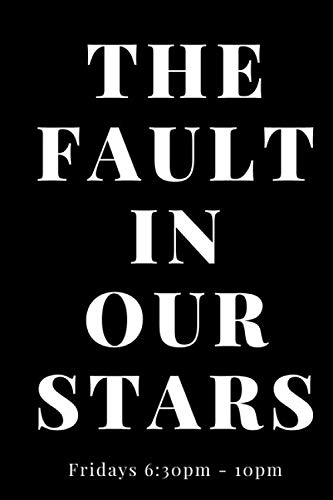 The Fault in Our Stars Lined NotebookJournal Gift, 6*9 , 120 Pages , Soft Cover , Matte Finish .Gift.