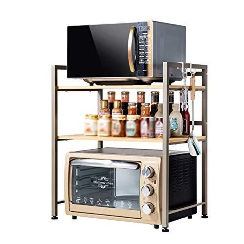 LCHY TB Keukenrek, houder voor oven, magnetron, opbergrek, multifunctioneel, voor het opbergen van planken in keuken en keuken, 3 etages