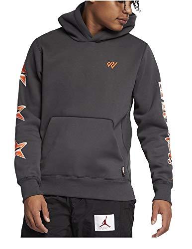 Nike Men's Grey Kangaroo Pocket Hooded Sweatshirt Size L