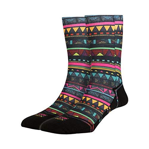 LUF SOX Classics Nomad Lines - Socken für Damen und Herren, Unisex-Größe 36-40 und 41-46, mehrfarbig, Ferse und Fußspitze leicht gepolstert