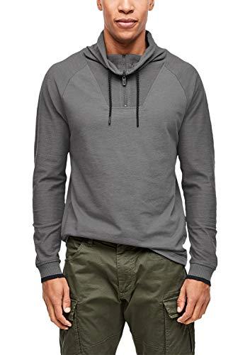s.Oliver Herren 13.909.31.6719 Langarmshirt, Grau (Blend Grey 9730), Large (Herstellergröße: L)