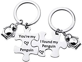 TGBJE You're My Penguin,I Found My Penguin Keychain Couple Puzzle Keychain Wedding Gift