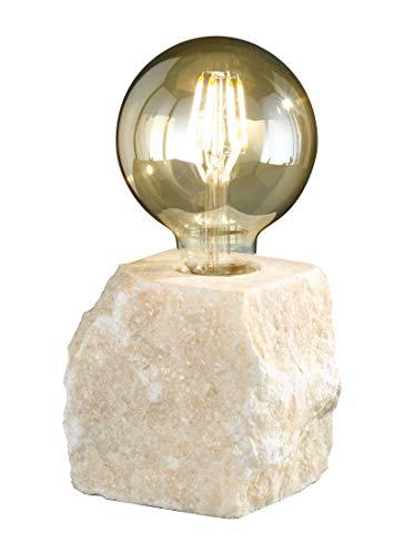 Reality Leuchten Stone R50531001 Tischleuchte, Marmor, Weiß
