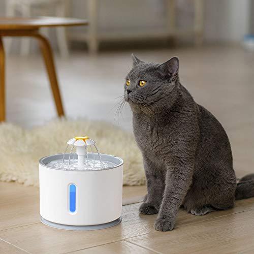 TYXL Pet Feeder Inteligente eléctrico LED Luminoso automático Apagado Apagado Agua Potable Mascotas Agua Viva circulación dispensador de Agua Gris