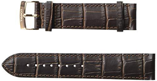 Tissot Leather Calfskin Brown Watch Strap, 21mm Width (Model: T600041276)