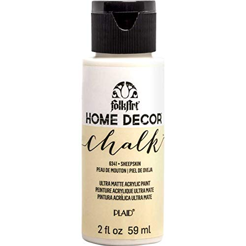 FolkArt Home Décor Chalk Furniture & Craft Paint in Assorted Colors, 2oz, Sheepskin