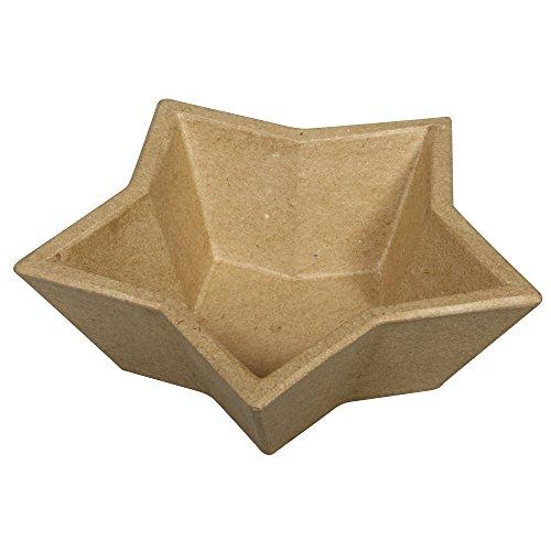 Rayher 71663000 Pappmaché Schale - Stern 5 Strahlig, 15x15x4,5cm