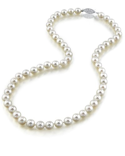 The Pearl Source - Collana di perle giapponesi Akoya AAA da 6-6,5 mm