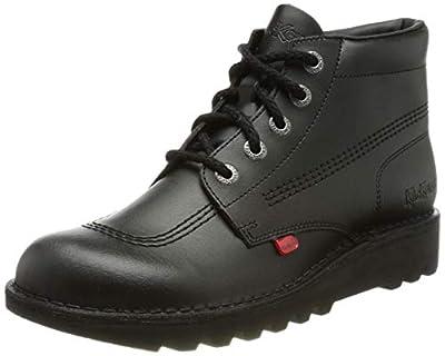 Kickers Girl's Chi Senior Boots 36 M EU/4 M US Big Kid Black