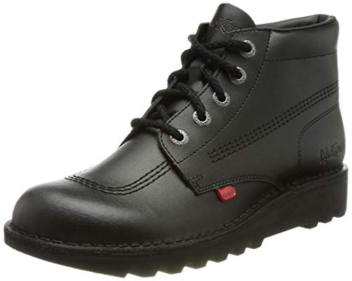 Kickers Unisex Kids Kick Hi Core Boots, Black, 3 UK (36 EU)
