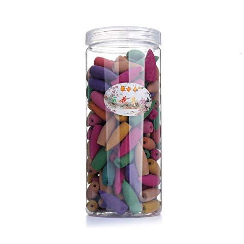 Conos de incienso de reflujo, conos de quemador de incienso de reflujo 168 piezas de humo natural Varios aromas Conos para quemador de incienso de reflujo, Mezclar flores
