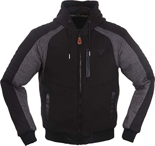Modeka HOOTCH Herren Motorrad Textiljacke Urban - schwarz grau