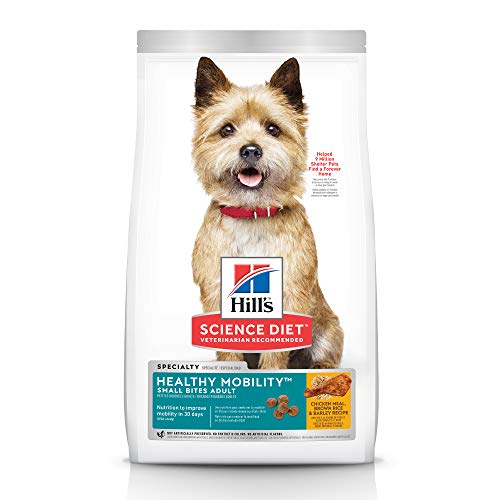 Hill's Science Diet Dry Dog Food, Adult, Healthy Mobility Small Bites, Chicken Meal, Brown Rice & Barley Recipe, 30 lb Bag, (Model: 9219)