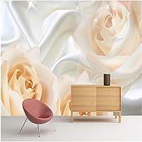 Xbwy 装飾壁画寝室の壁の壁の壁画の壁紙モダンなデザインのバラの花の不織布壁紙の壁画-200X140Cm