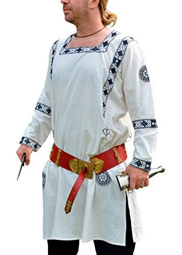 Romains brodée tunique à manches longues, bleu, 100 % coton-manicata xl
