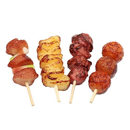 STOBOK 4pcs Enfants Barbecue Jouets Nourriture réaliste pour la décoration Afficher Les Accessoires Enfants Jouet éducatif