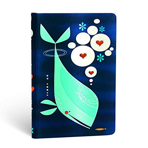 Paperblanks Notizbuch mit Lesebändchen & Innentasche | Wal und Freund | Mini (140 x 95 mm) | 176 Seiten | Liniert
