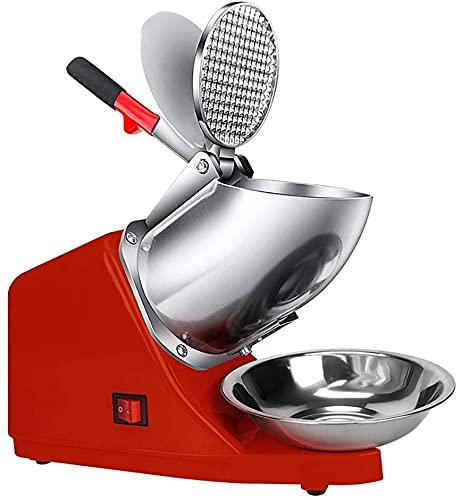 Ghongrm Máquina de Hielo Afeitado, trituradora eléctrica y máquina de Cono de Nieve |Acero Inoxidable, para Hielo Afeitado, Herpes y Bebidas congeladas. (Color : Red)
