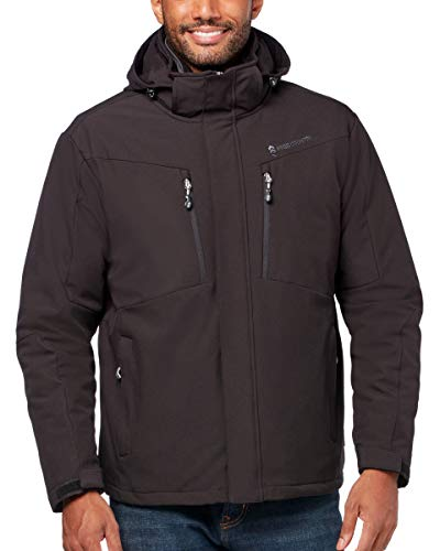 Free Country Men's Big & Tall FreeCycle Montage 3-in-1 Systems Jacket (Black, LT)