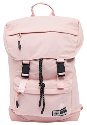 Superdry Sportcode Top Loader Rucksack, Pink Clay