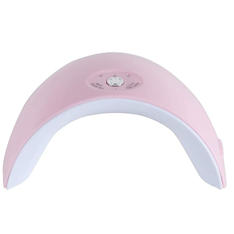 Tfscloin 36W UV LED Lamp Nail Dryer 12 Leds Gel Polish with 60s/120s Timer USB Connector Nail Art Tools for Home and Salon(Pink)