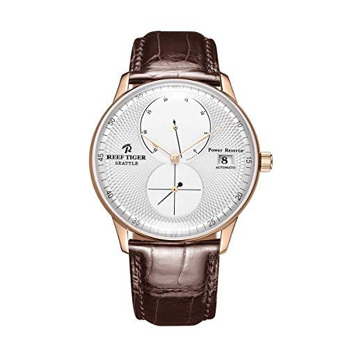 REEF TIGER Herren Uhr analog Automatik mit Leder Armband ORGA82B0-PWW