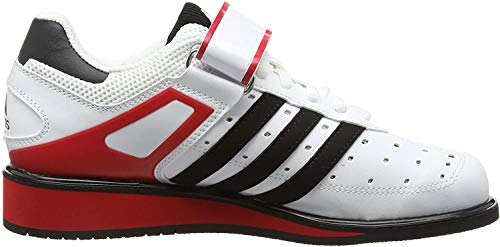 adidas Power Perfect II, Zapatillas Deportivas para Interior, Unisex Adulto, Multicolor (Running White Ftw/black /radiant Red ), 50 2/3 EU
