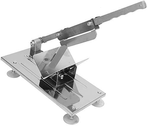 Affettatrice manuale in metallo, Affettatrice in acciaio Inox del salute e sicurezza, Lunghezza lama: 170 mm (6,7 ''), lo spessore della fetta di carne può essere regolato: da 0,3 mm a 15 mm