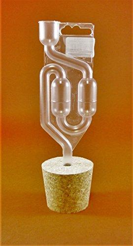TAPPO CONICI IN SUGHERO CON FORO 64/54mm + GORGOGLIATORE - Tappi di Vino della casa | Fermentazione | per Damigiana | per Barriques | per damigiane di vino | Lievito di Vino | Prodotti Enologici