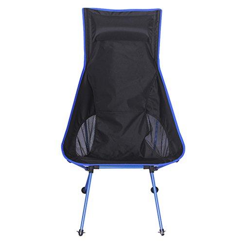 Perfeclan Chaise De Camping Pliante Portable Plage De Pique-Nique De Voyage en Plein Air + Sac De Transport - Bleu Royal, 40 x 90 x 100 cm