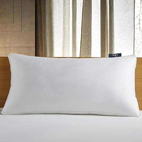 Serta 300 Thread Count White Down Fiber Bed Side Sleeper Pillow, King