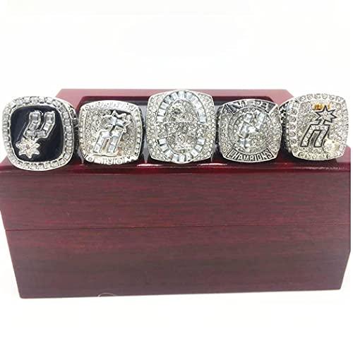 CLCL NBA San Antonio Spurs Championship Ring Set Anillos de Hombre, Championship Anillo de Réplica Personalizado Anillos de Diamantes para Hombres,with Box 11