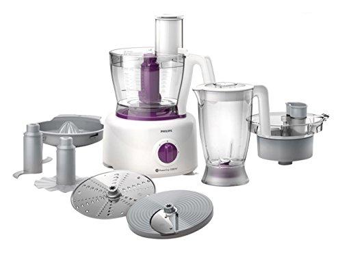 Philips Viva Collection HR7751/00 - Robot de cocina (3,4 L, Púrpura, Blanco, Giratorio, 2,2 L, 1,2...