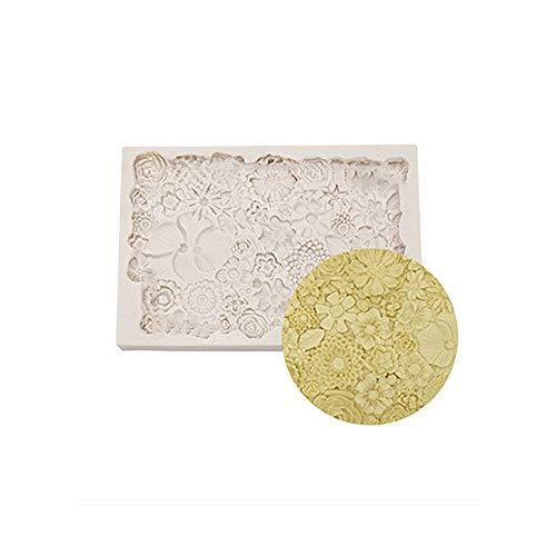 Swetup 3D Rose Blume Silikonform,Mini Blumen Silikon Formen,Silikonform,Geometrische Backform aus Silikon, DIY Silikon Formen für Fondant Gelee Schokolade Marzipan Kuchen Muffin Süßigkeit Backen