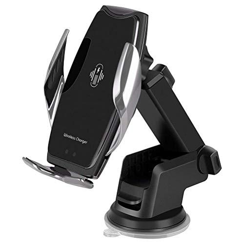YIPUTONG Soporte para Cargador de Coche, Soporte para teléfono móvil Auto Inducción Qi 10W Cargador inalámbrico Coche Soporte para teléfono móvil Inducción Carga rápida Carga magnética