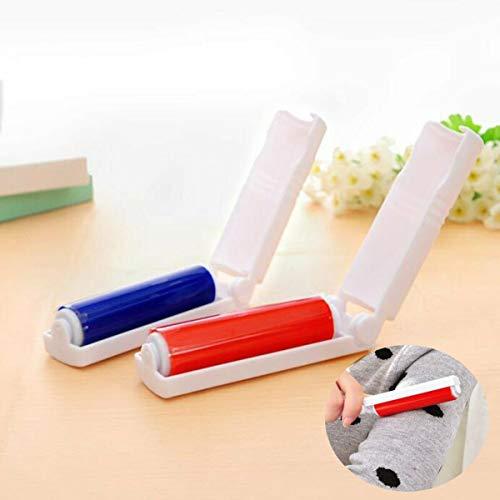 Tianhaik Huisdier Haar Roller Remover, Opvouwbare Doek Sticky Roller Borstel Stofzuiger Borstel Vuilverwijderaar Willekeurige kleur