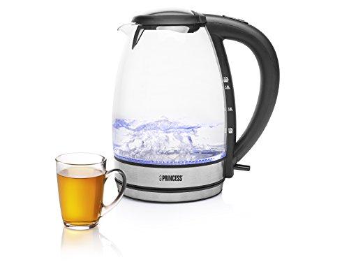 Princess 01.236015.01.001 - Wasserkocher Schott Duran Glas 1,7 Liter inkl. LED-Innenbeleuchtung