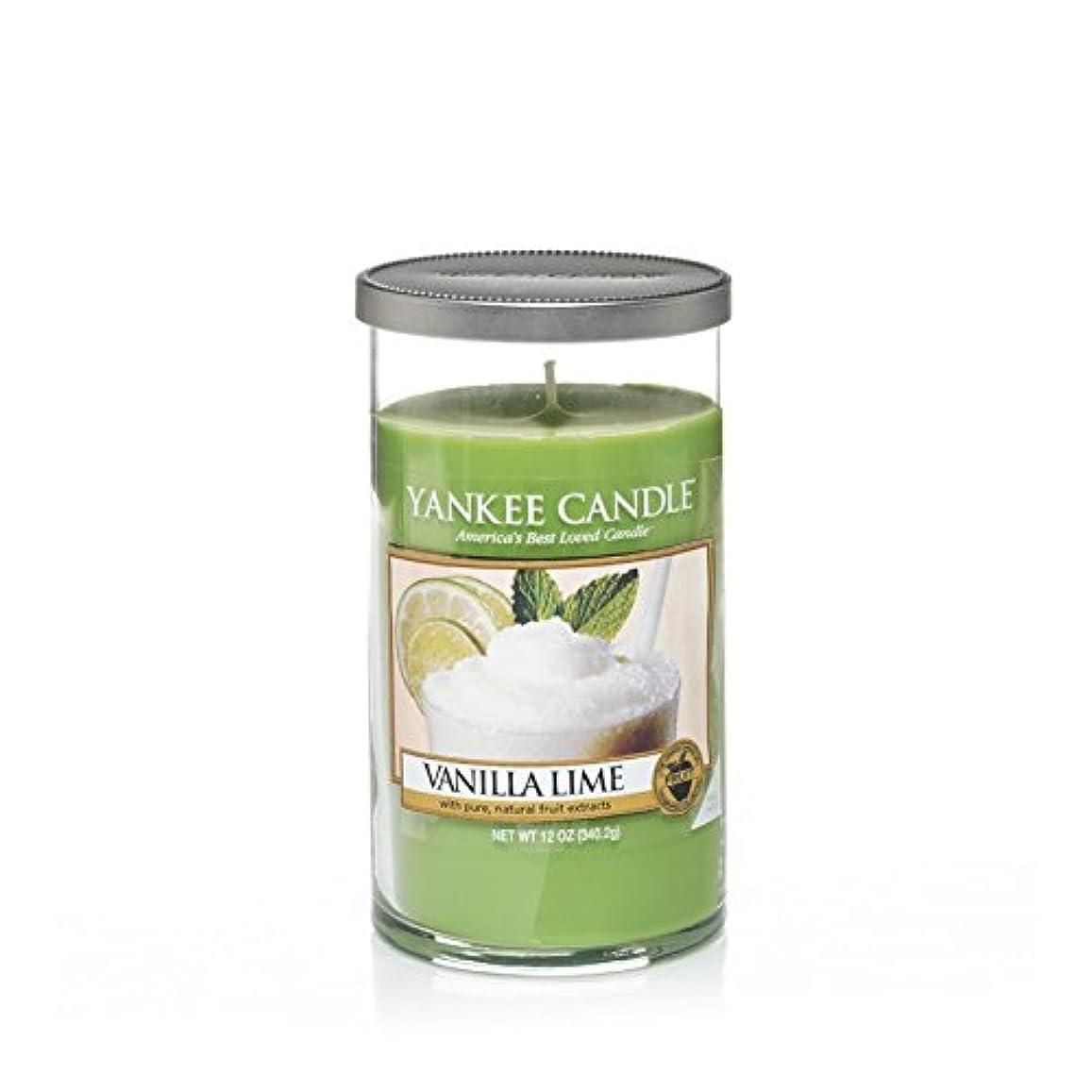 尾軍隊持続的Yankee Candles Medium Pillar Candle - Vanilla Lime (Pack of 2) - ヤンキーキャンドルメディアピラーキャンドル - バニラライム (x2) [並行輸入品]