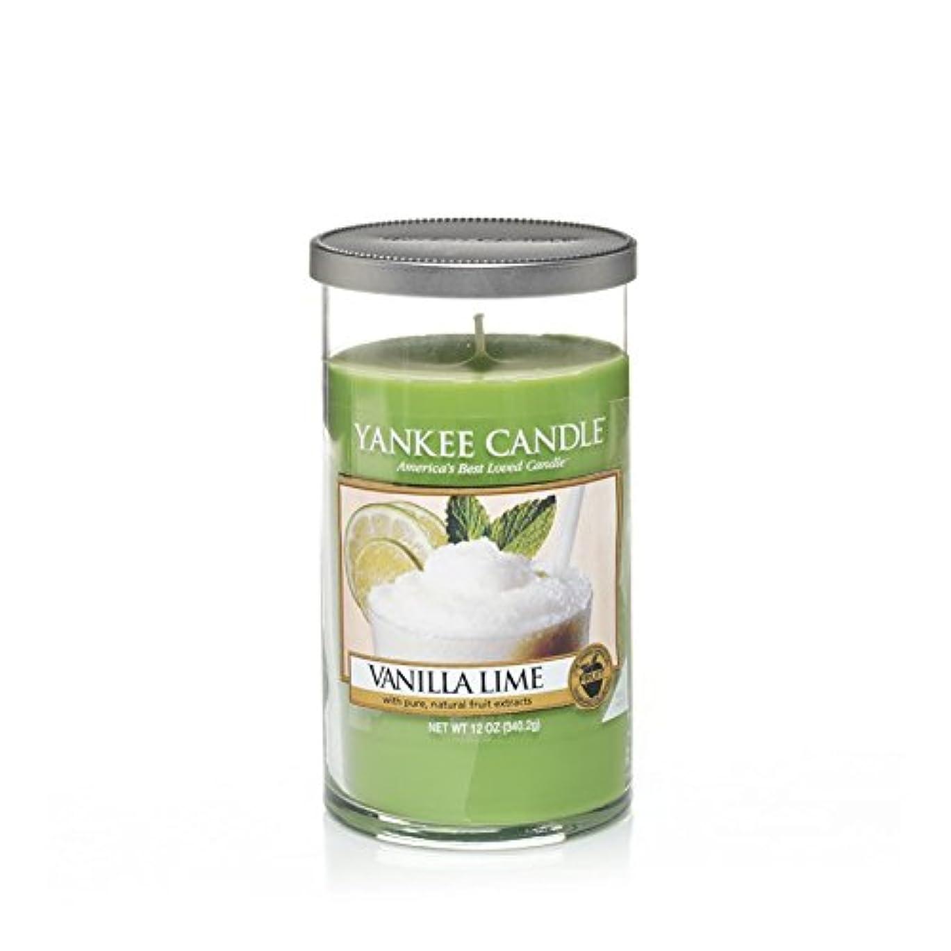 燃やす小さな構成するYankee Candles Medium Pillar Candle - Vanilla Lime (Pack of 6) - ヤンキーキャンドルメディアピラーキャンドル - バニラライム (x6) [並行輸入品]