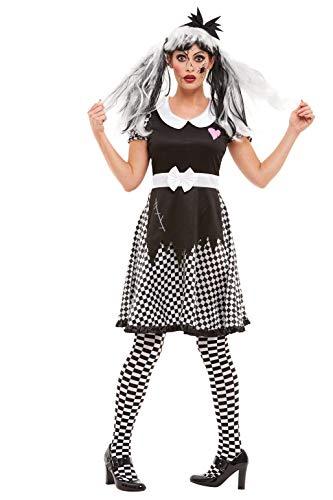Smiffys 50942M - Disfraz de mueca rota para mujer, talla M, color negro