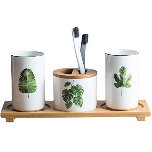 ZHQHYQHHX - Set di tazze da spazzolino da denti in ceramica, stile nordico, semplice coppia bocca, accessori per il bagno, accessori da bagno (colore: bianco2, dimensioni: libero)