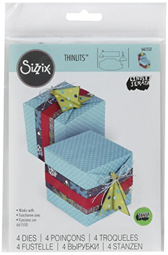 Sizzix 661552 Thinlits Die Set, Christmas Tree Gift Box by Lindsey Serata