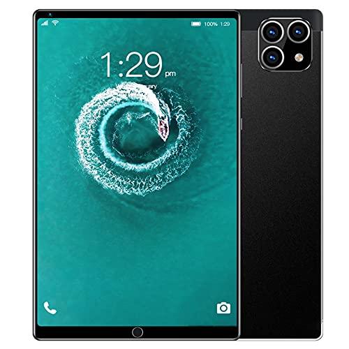 XLOO Tableta de 8 Pulgadas,Memoria de 2 GB,ROM de 32 GB (128 G),Procesador de Cuatro Núcleos A 1,3 GHz,Pantalla de Alta Definición de 1920 X 1200 IPS,Ranuras para Tarjetas Dobles