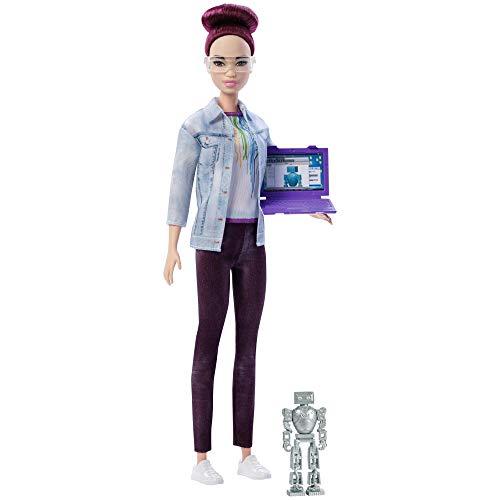 Barbie, Bambola Asiatica Ingegnere Robotico, 16 cm, FRM12