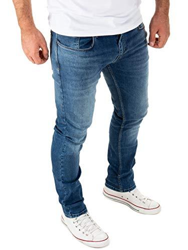 WOTEGA Jeans Herren Justin Slim - Jeans Hosen für Männer - dunkel Blaue Denim Stretch Hose Jeanshose, Blau (Blue Indigo 193928), W30/L34